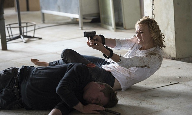 LadyBauer (Yvonne Strahovski) attempts to cure her Propofol hangover.