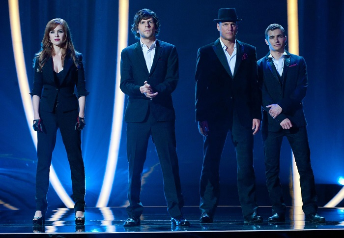 still-of-woody-harrelson,-jesse-eisenberg,-isla-fisher-and-dave-franco-in-now-you-see-me--jaful-perfect