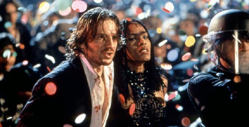 STRANGE DAYS, Ralph Fiennes, Angela Bassett, 1995, TM and Copyright (c)20th Century Fox Film Corp. All rights reserved.